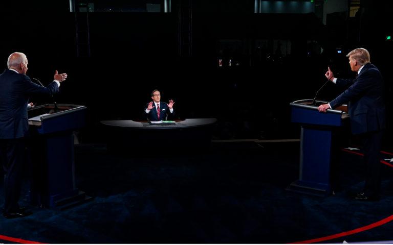Старикам тут место: как Трамп и Байден выясняли отношения лицом к лицу